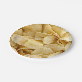 Potato chip paper plates fun foodie plates 7 inch paper plate