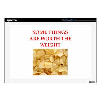 "potato chips 17"" laptop decals"