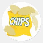 potato chips classic round sticker