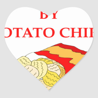 POTATO CHIPS HEART STICKER