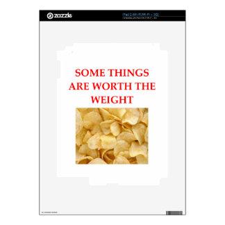potato chips iPad 2 skins