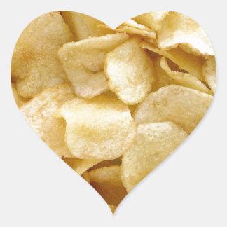 Potato chips junk food gifts heart sticker