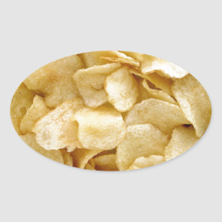 Potato chips junk food gifts oval sticker