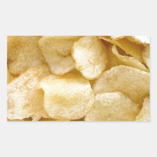 Potato chips junk food gifts rectangular sticker