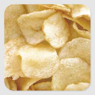 Potato chips junk food gifts square sticker