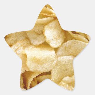 Potato chips junk food gifts star sticker