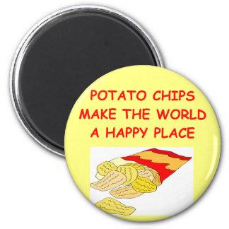 potato chips fridge magnet