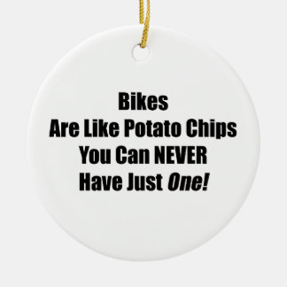 Potato Chips You Can Never Have Just One Ceramic Ornament