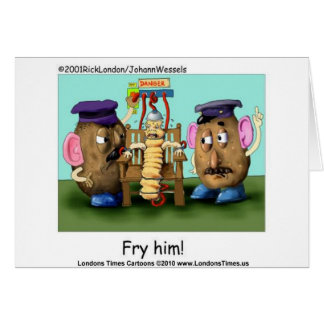Potato Criminals Funny Mugs Tees Cards & Gifts Greeting Card