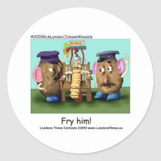 Potato Criminals Funny Mugs Tees Cards & Gifts Classic Round Sticker