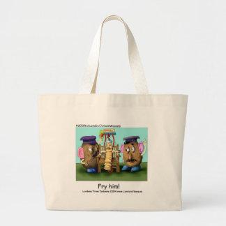 Potato Criminals Funny Mugs Tees Cards & Gifts Large Tote Bag