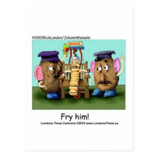 Potato Criminals Funny Mugs Tees Cards & Gifts Postcard