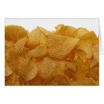Potato crisps on white background, DFF image Greeting Card