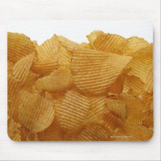 Potato crisps on white background, DFF image Mouse Pad