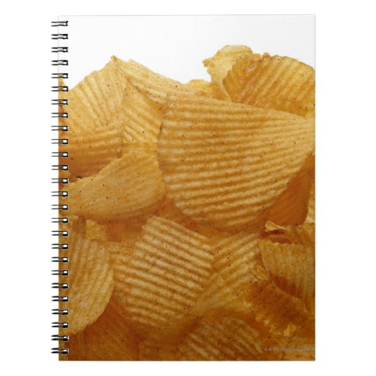 Potato crisps on white background, DFF image Notebook