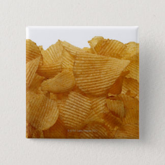 Potato crisps on white background, DFF image Pinback Button