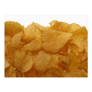 Potato crisps on white background, DFF image Postcard