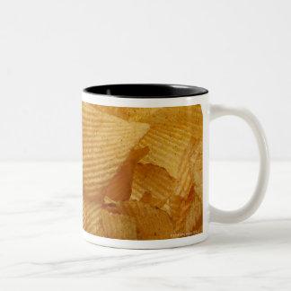 Potato crisps on white background, DFF image Two-Tone Coffee Mug