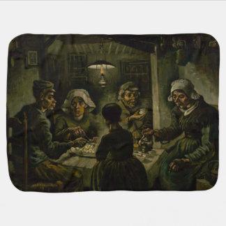 Potato Eaters by Vincent Van Gogh Receiving Blanket