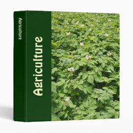 Potato field 3 ring binder