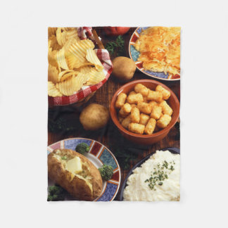 Potato Foods Fleece Blanket