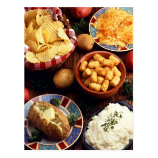 Potato Foods Postcard