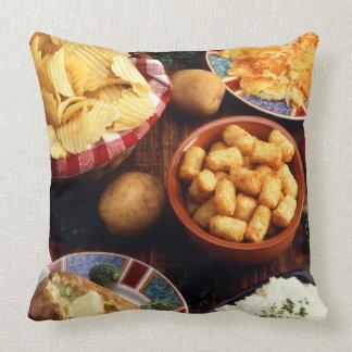 Potato Foods Throw Pillow