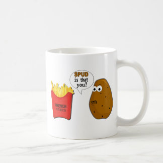 Potato French Fries is that you? funny Classic White Coffee Mug