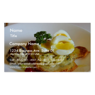 Potato Galettes With Quail Eggs Business Card