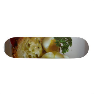 Potato Galettes With Quail Eggs Custom Skate Board