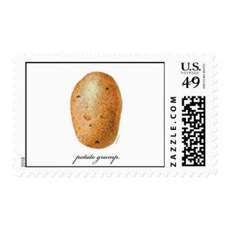 Potato Grump Postage Stamp