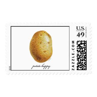 Potato Happy Postage Stamp