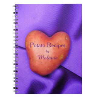Potato Heart Potato Recipes Personalized notebook