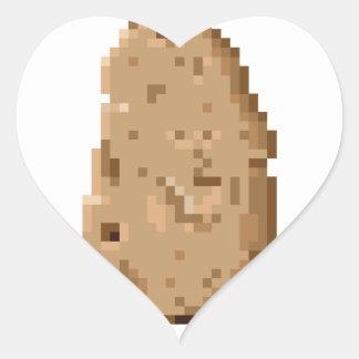 Potato Heart Sticker