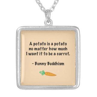 Potato Is a Potato Silver Plated Necklace