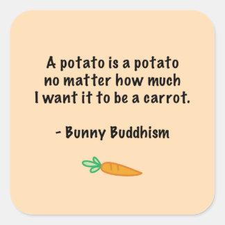 Potato Is a Potato Square Sticker