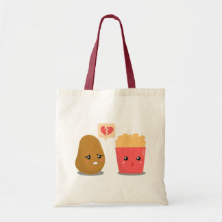 Potato is Heart Broken over French Fries Tote Bag