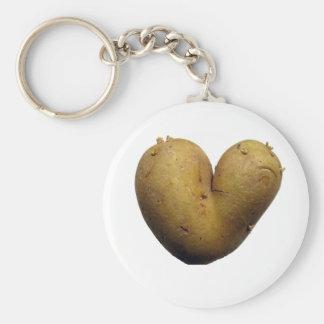 Potato love basic round button keychain