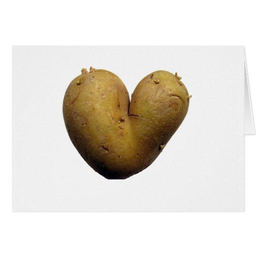 Potato love greeting card