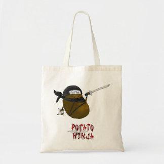 potato ninja budget tote bag