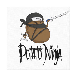 Potato Ninja Canvas Print