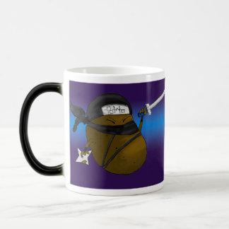 Potato Ninja 11 Oz Magic Heat Color-Changing Coffee Mug