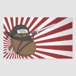 Potato Ninja Rectangular Stickers