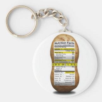 Potato Nutritional Facts Basic Round Button Keychain