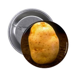 Potato on dirt 2 inch round button