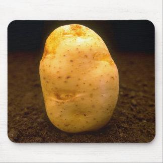 Potato on dirt mouse pad