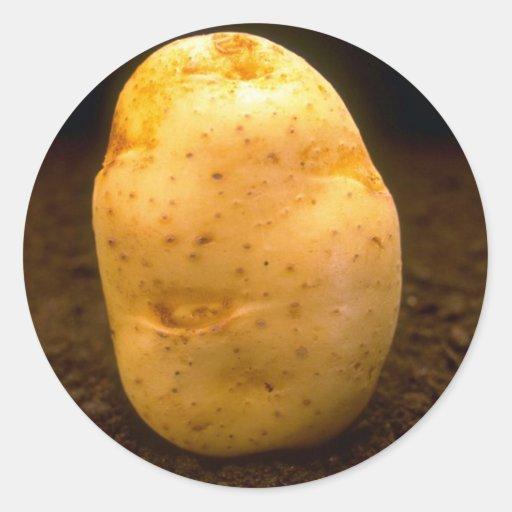 Potato on dirt sticker