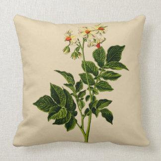 Potato plant throw pillow