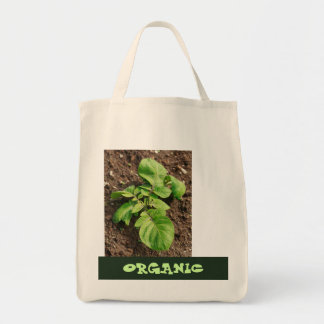 Potato plant tote bag