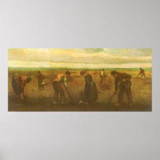 Potato Planting by van Gogh Vintage Impressionism Posters